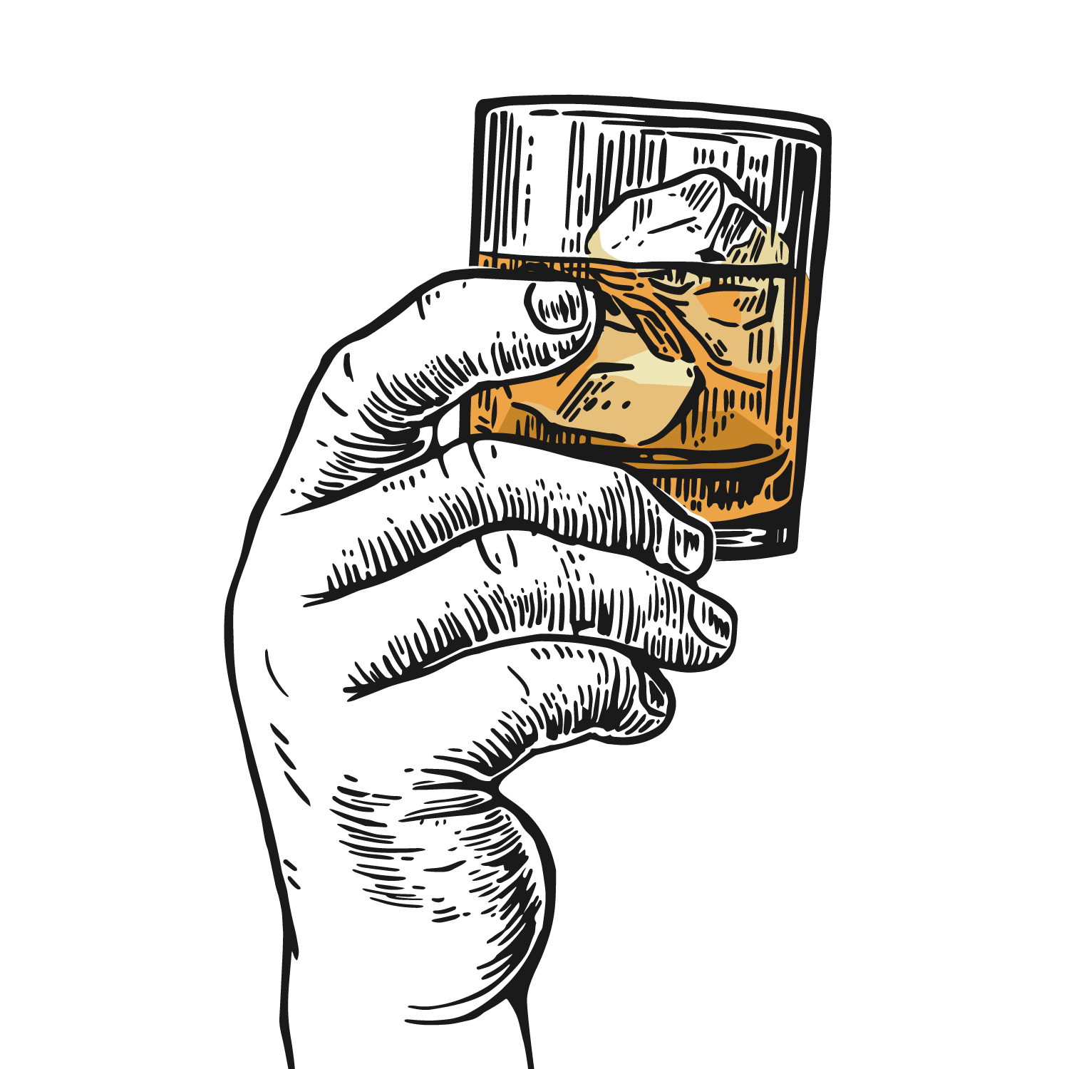 Whiskey drawing cartoon. Scotch whisky bourbon tequila