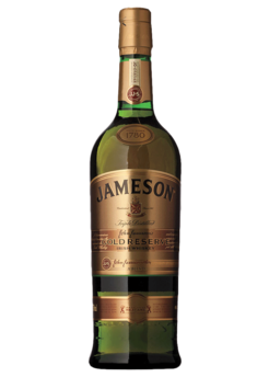 Whiskey drawing jameson bottle. Gold total wine more