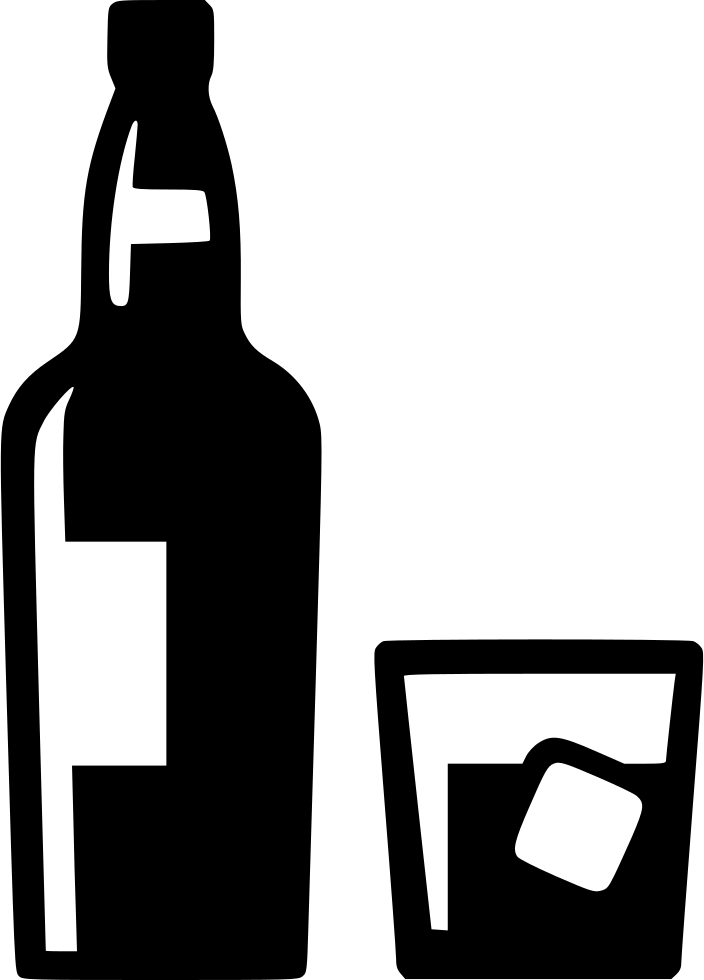 Whiskey drawing vector. Bottle silhouette at getdrawings