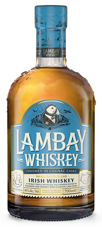 Whiskey drawing bottle. Lambay irish come with