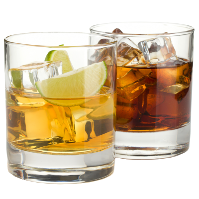 whiskey drawing tumbler glass