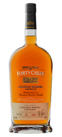 Whiskey vector booze. Forty creek whisky double