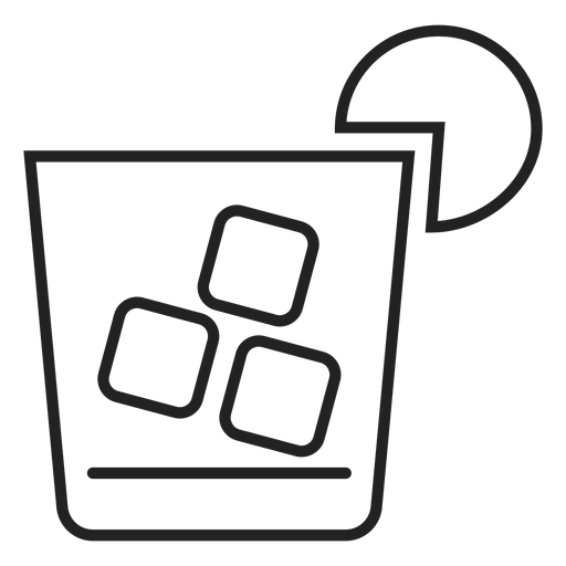 Whiskey vector transparent background. Sour cocktail icon png