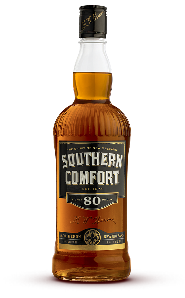 Transparent alcohol different form. Southern comfort proof