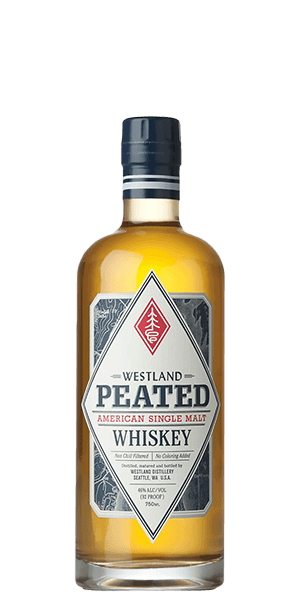 Whiskey vector liquor. Westland peated american single