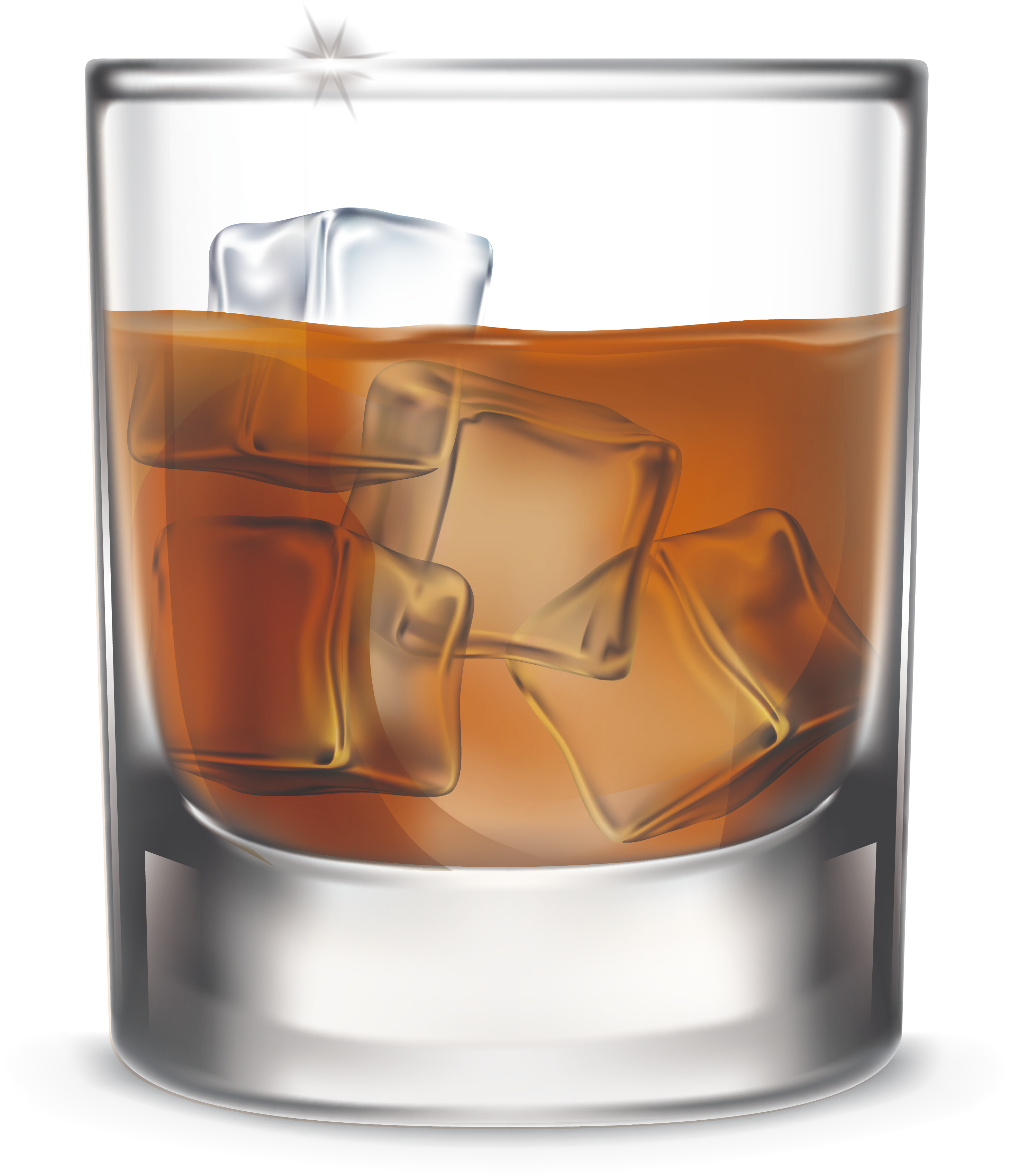 Whiskey vector old fashioned glass. Whisky a of transprent