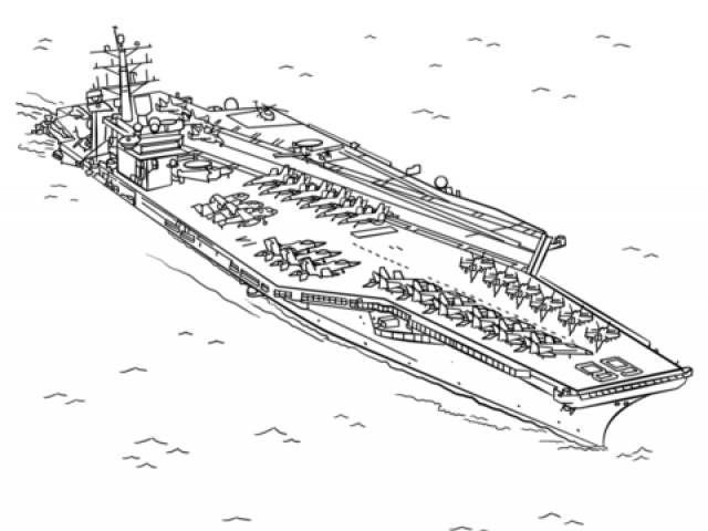White aircraft carrier. Free clipart download clip