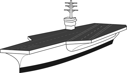 White aircraft carrier. Vector image public domain