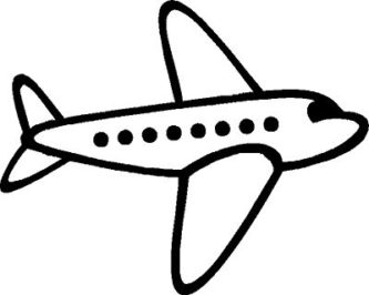 White plane. Black and airplane pictures