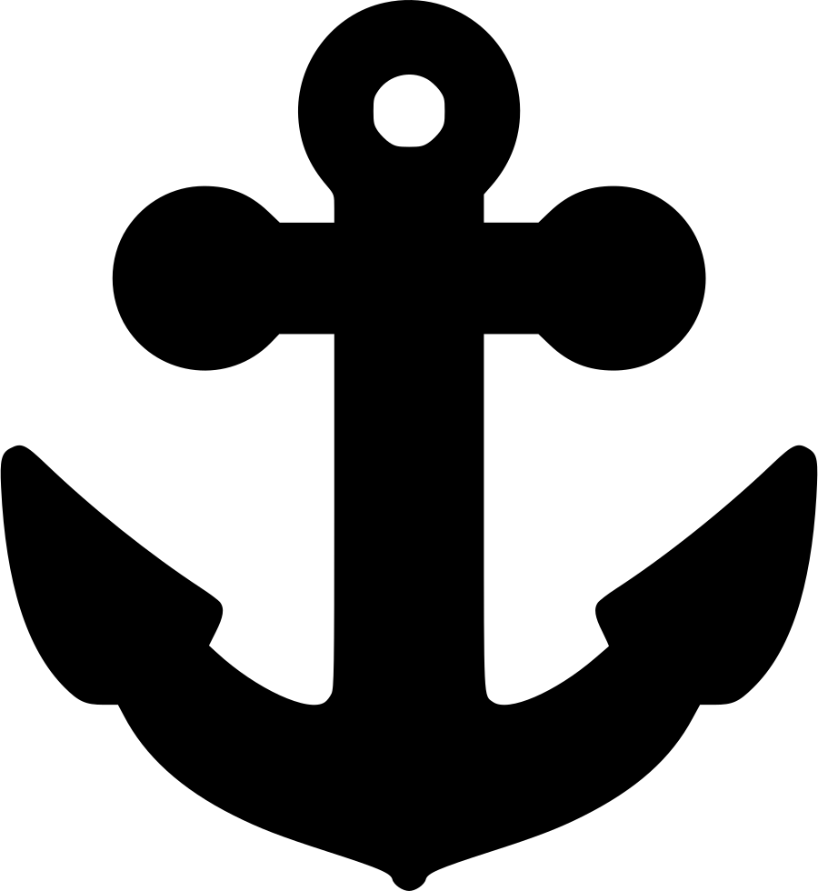 White anchor png. Svg icon free download