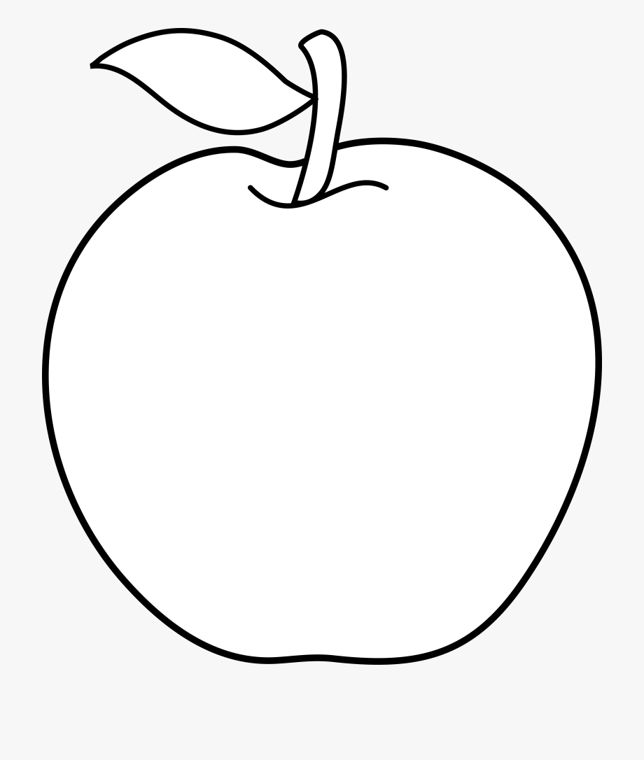 White apple. Clipart black and