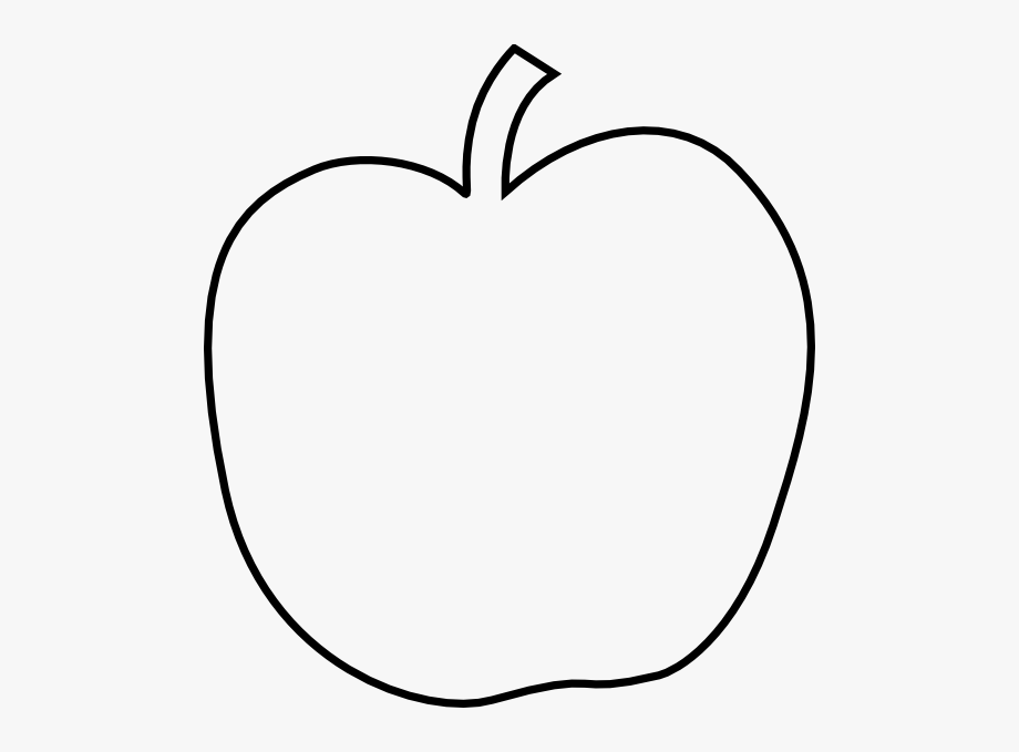 White apple. Black and clipart