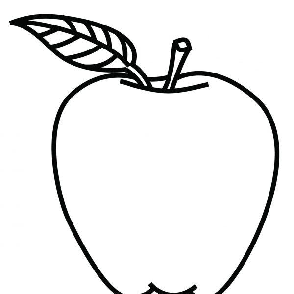 White apple. Tree coloring book inspirationa