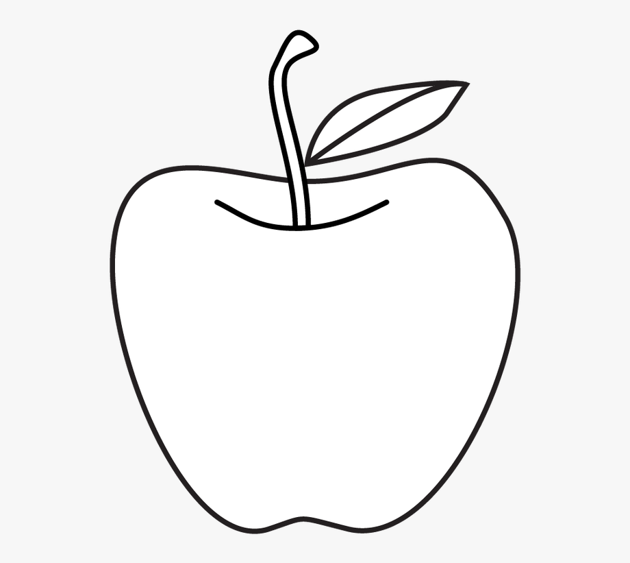 White apple. Apples clipart black and