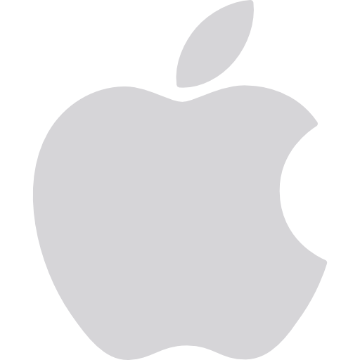 White apple logo png. Company brand squares icon