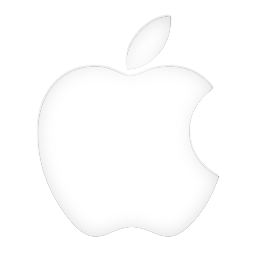White apple logo png. Glowing icon icons softicons