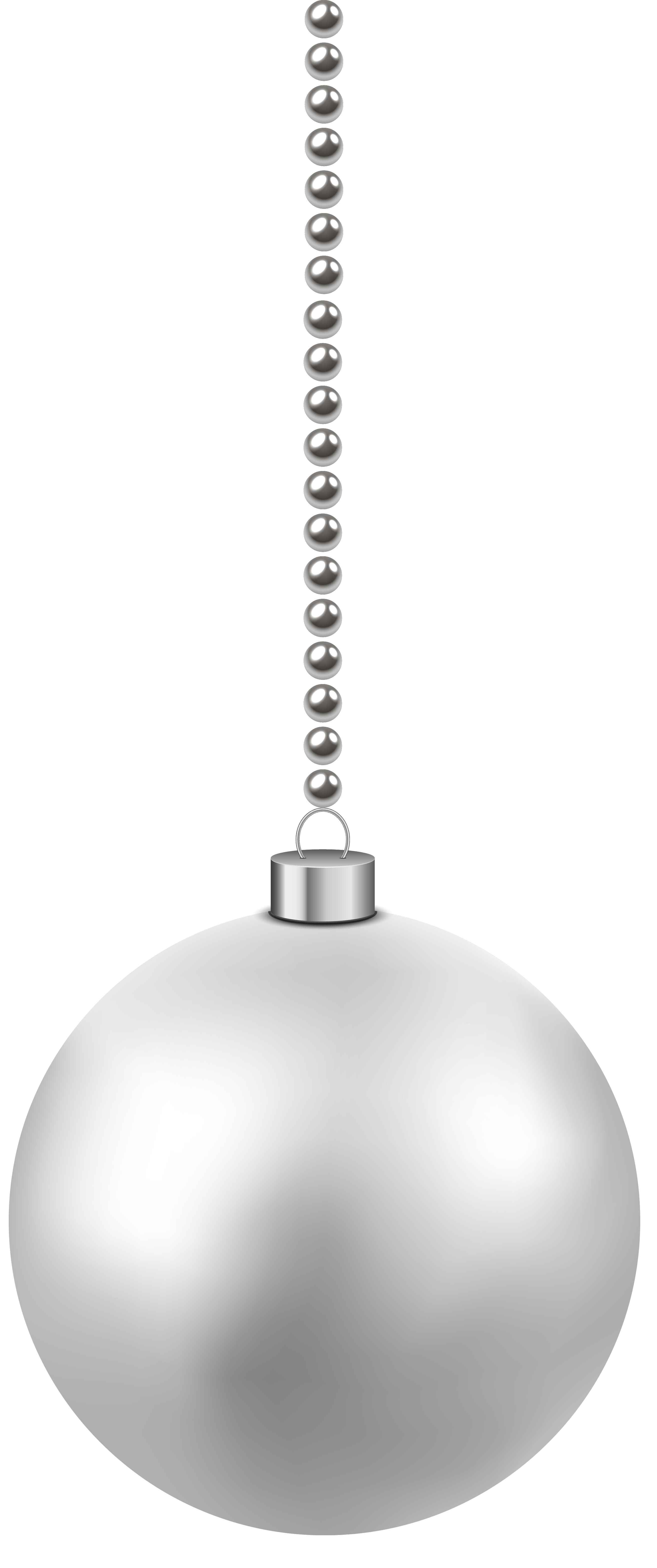 Christmas Balls Clipart Black And White.White Christmas Ornaments Transparent Png Clipart Free
