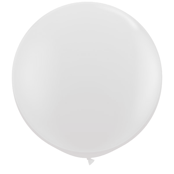 White balloon png. Large round giant cm
