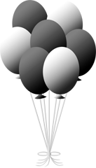Transparent gray black and white. Balloon clipart png images
