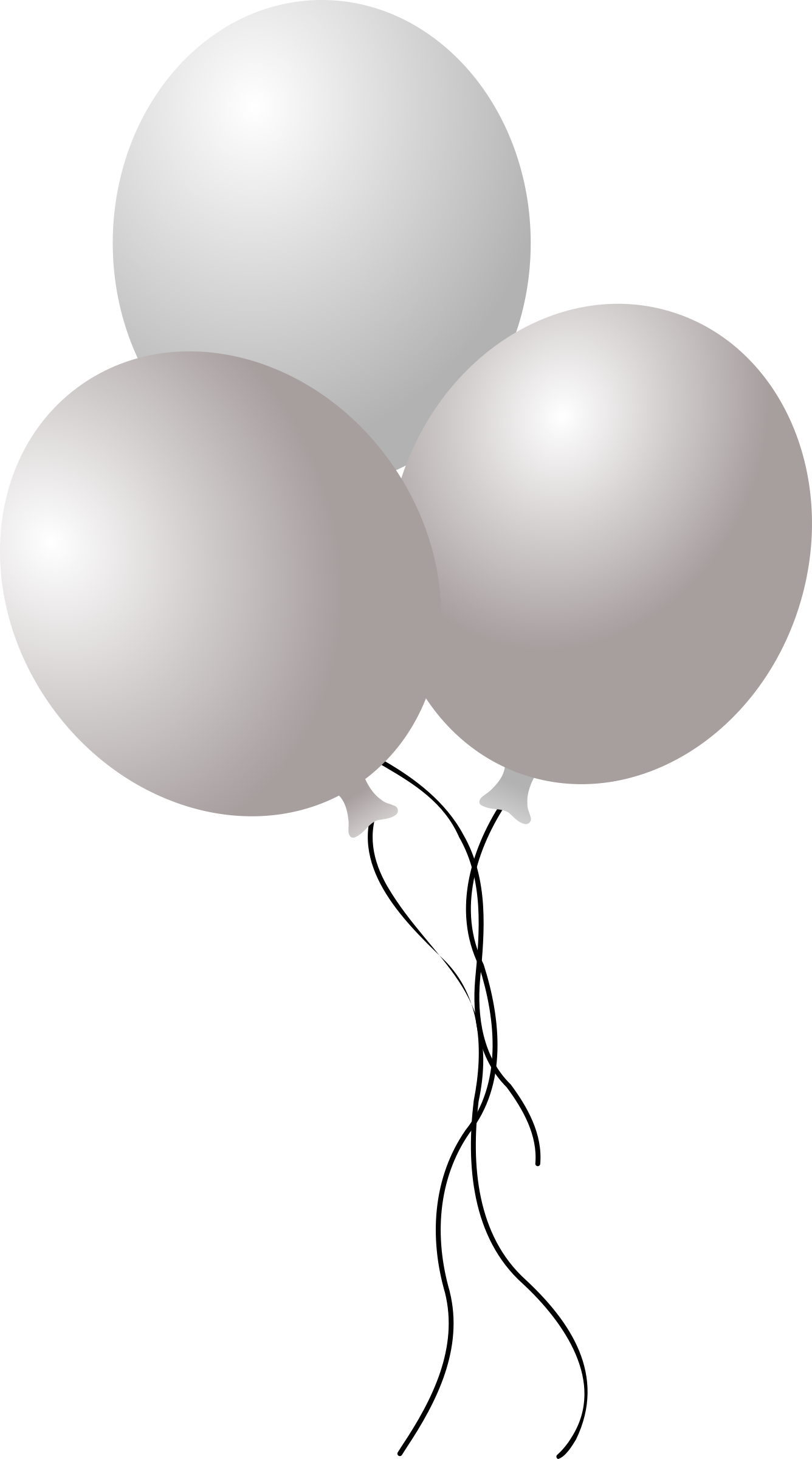 White balloons png. Collection of balloon