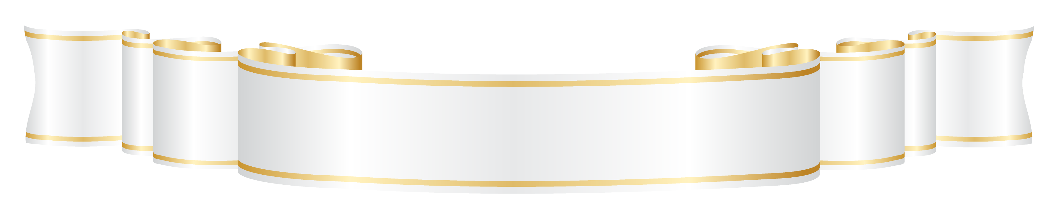 White banner ribbon png. And gold clipart picture