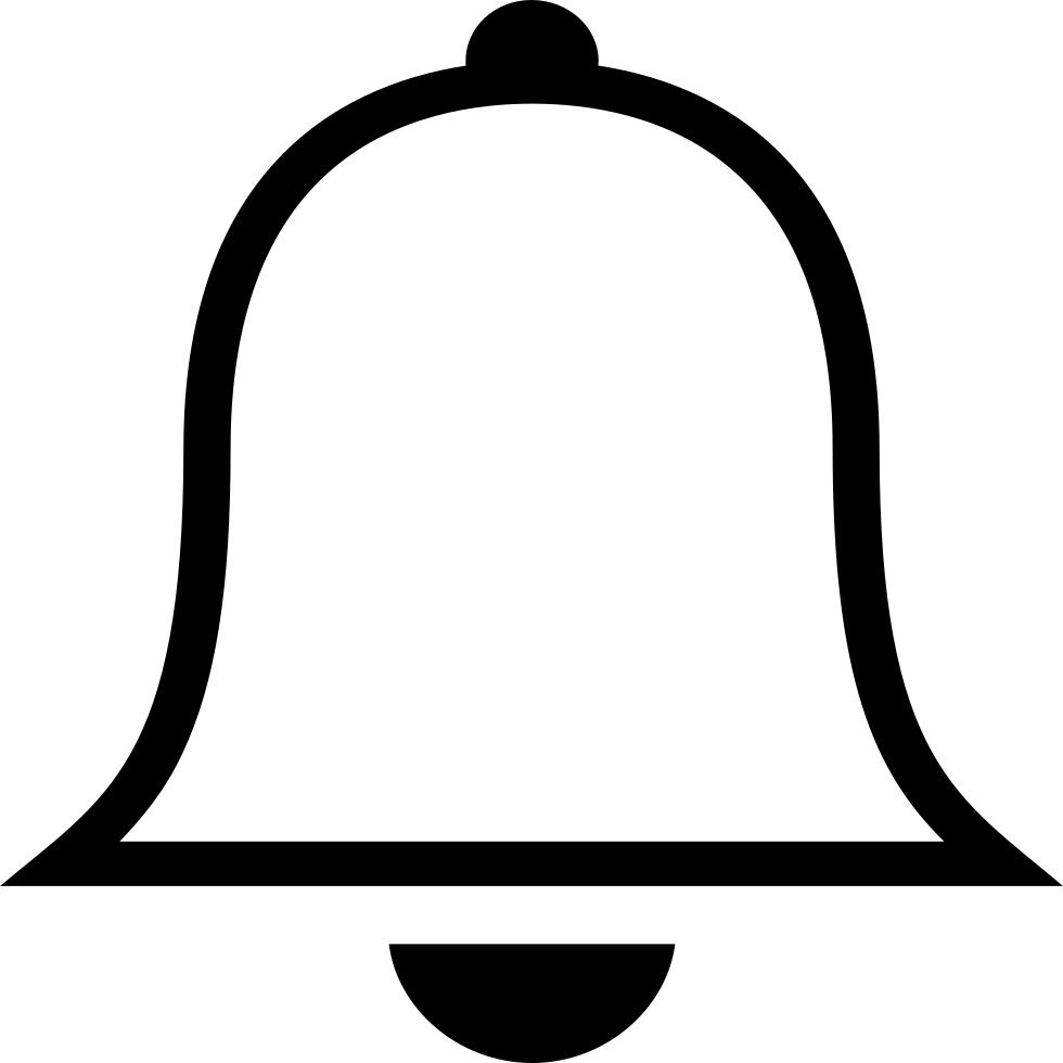 White bell png. Ios outline svg icon