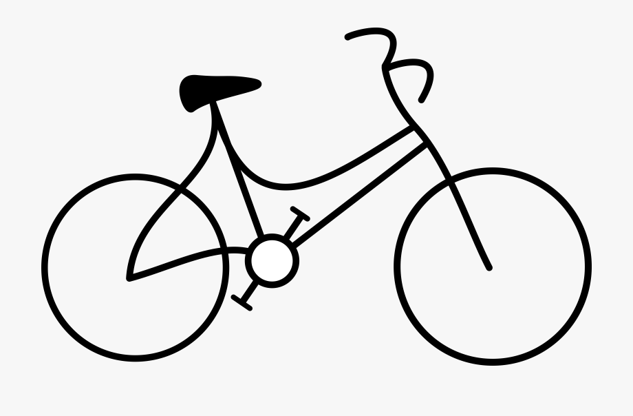White bicycle. Bike clipart black and