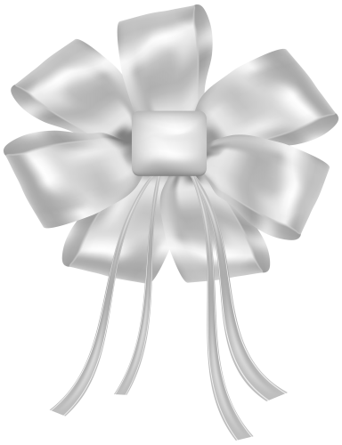 White ribbon png. Bow clipart best web