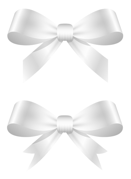 White bow png. Bows clipart picture decorative