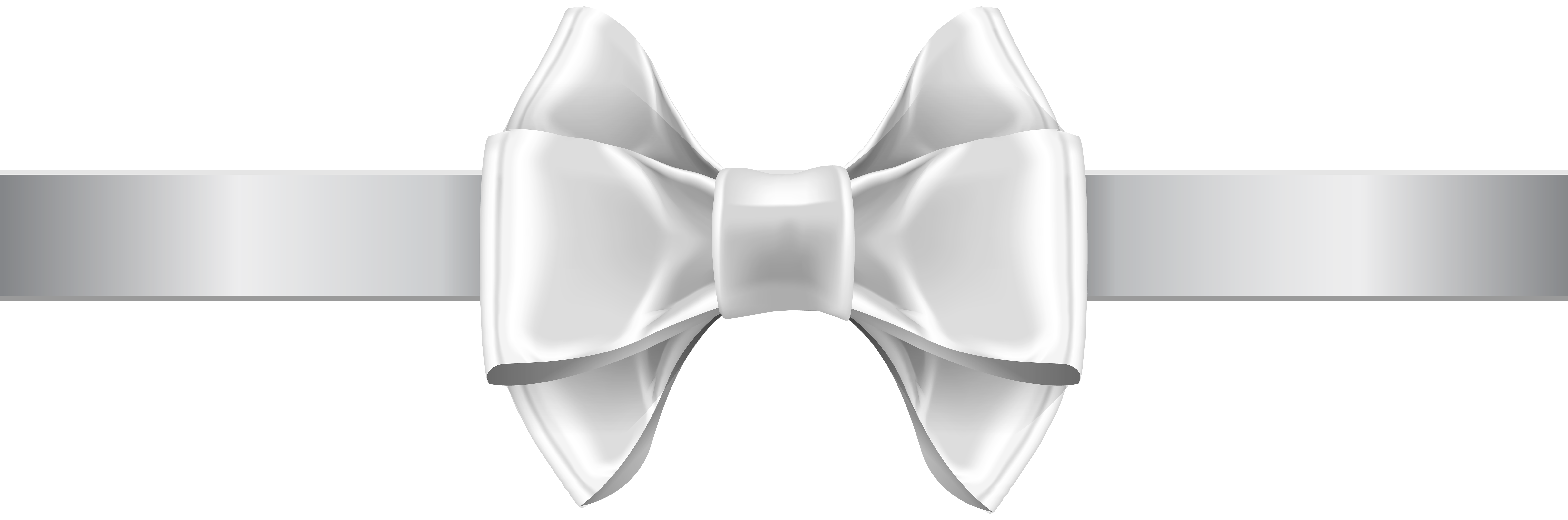 White bow png art. Silver clip black tie clipart free stock