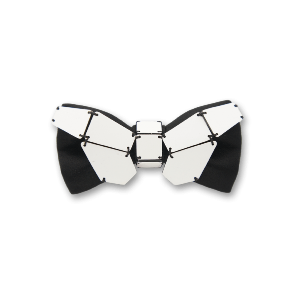 White bow tie png. Geometry butterfly in black