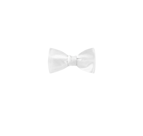 White bow tie png. Solid satin ties and