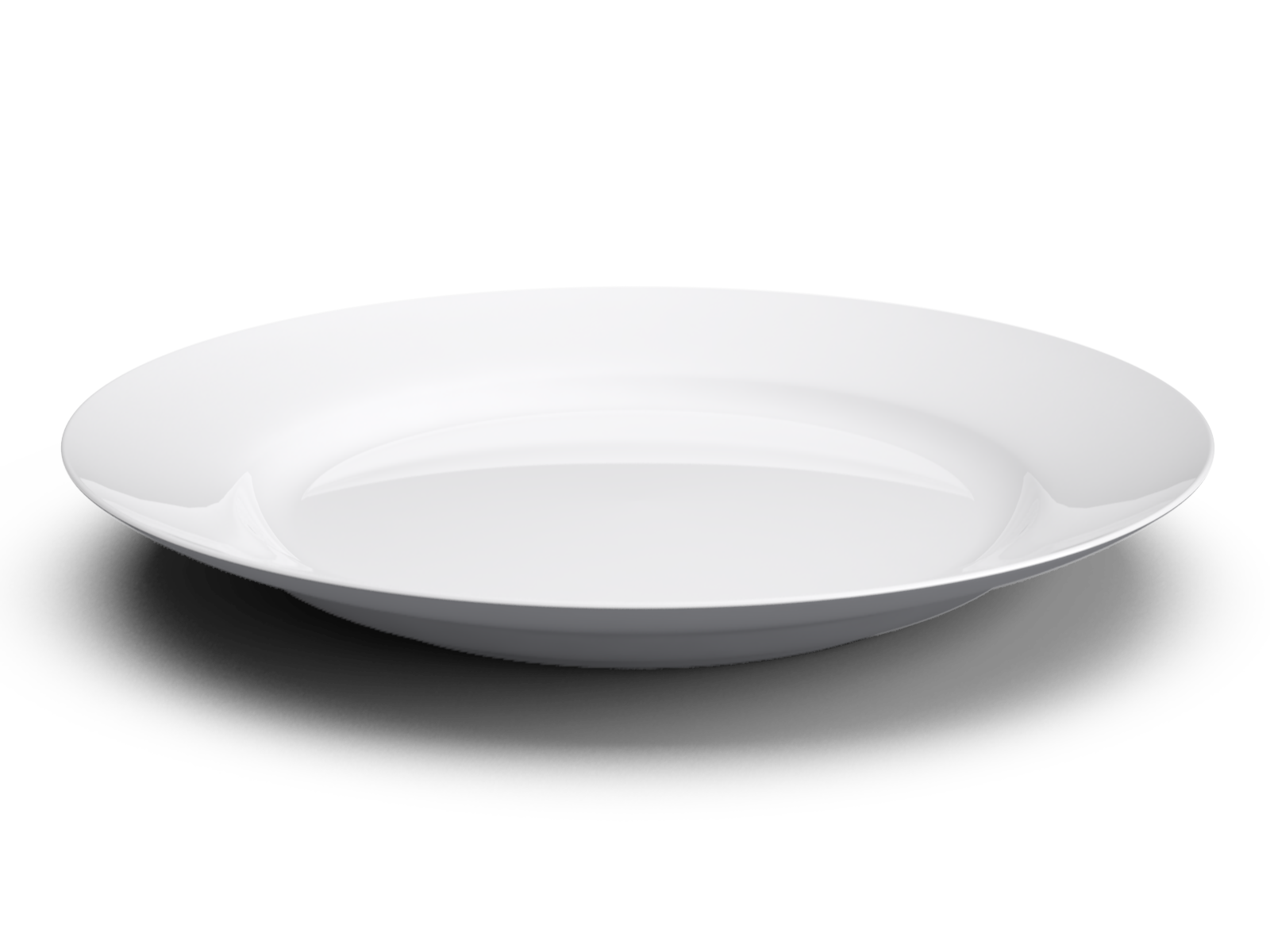 Plate png. White basic with shadow