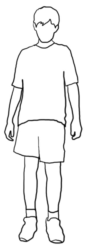 White boy png. Beautiful silhouettes of children