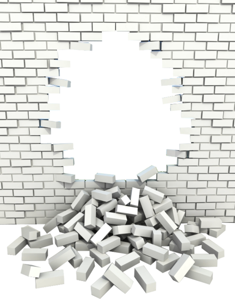 Transparent hole brick wall png. A white with psd