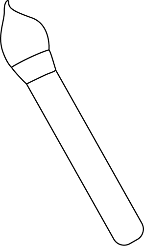White brush png. Black and art paint