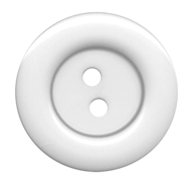 White Cloth Button With