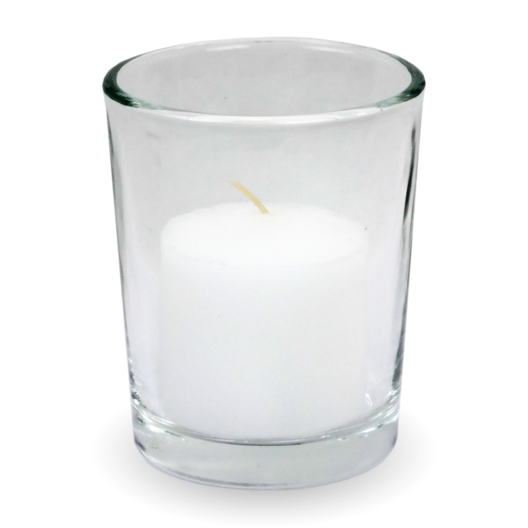 White candles in glass png hd. Votive holder gonesh incense