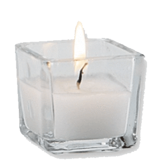 White candles in glass png hd. Tagged votive via flora