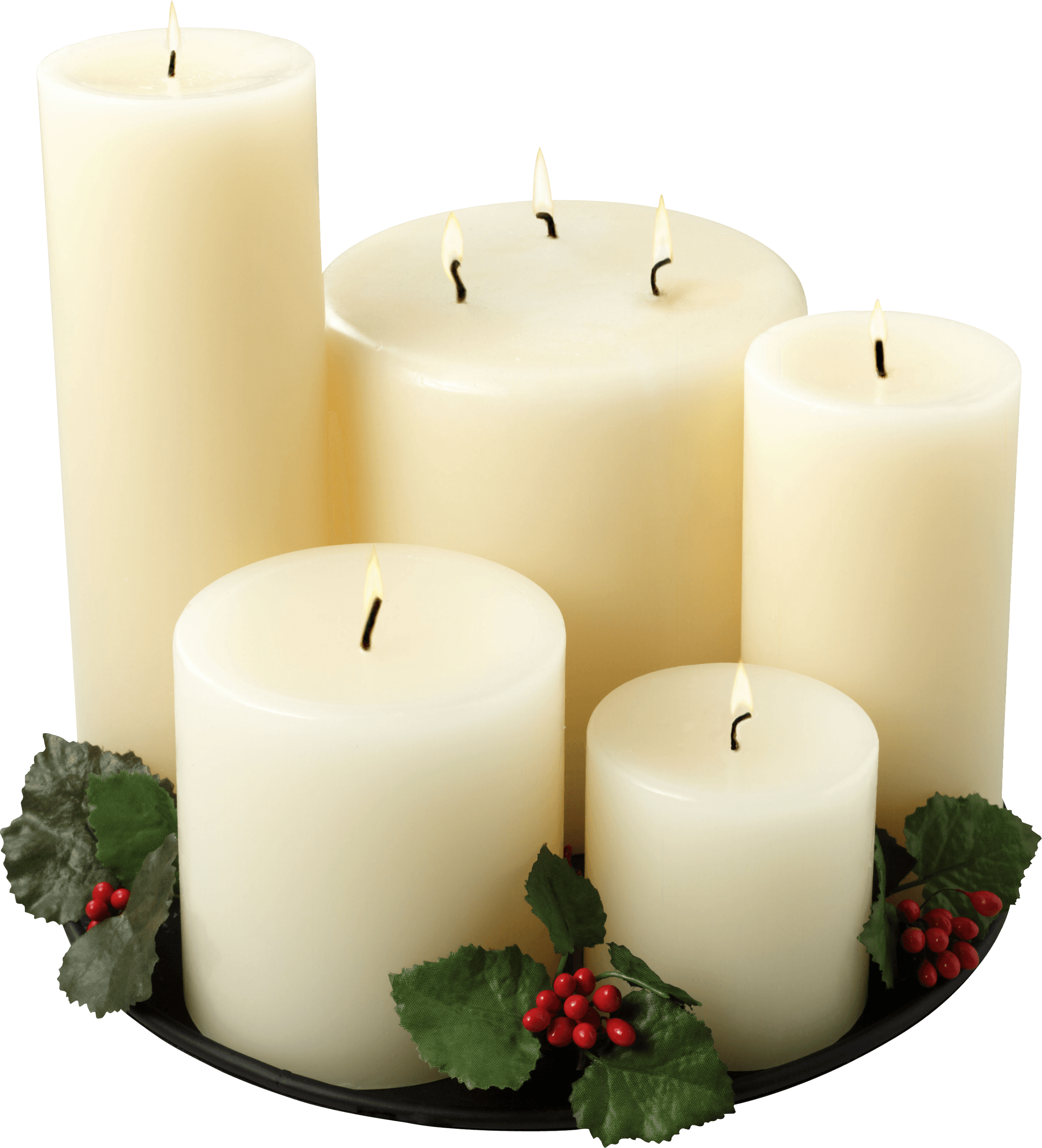 White candles png. Group of transparent stickpng