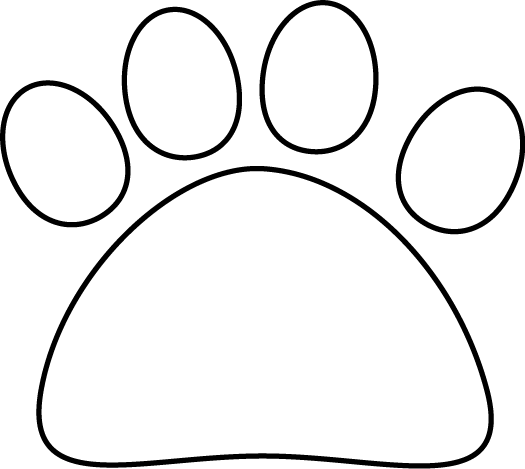 White cat paw png. Black and clip art