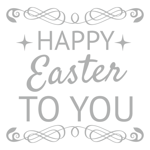 White chalk ornaments png. Happy easter label transparent
