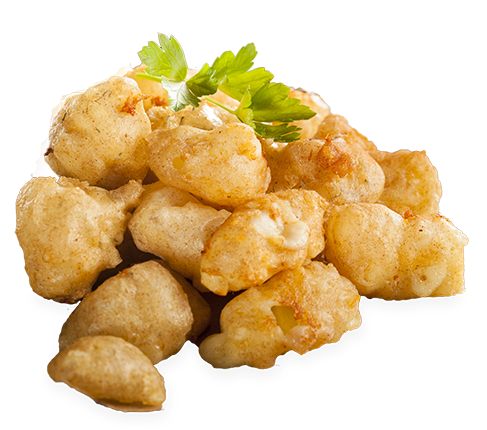 White cheese curds png