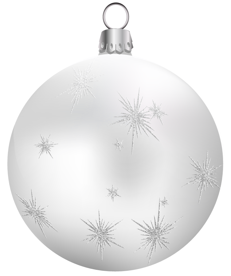 White christmas ornaments png. Transparent ball clipart gallery