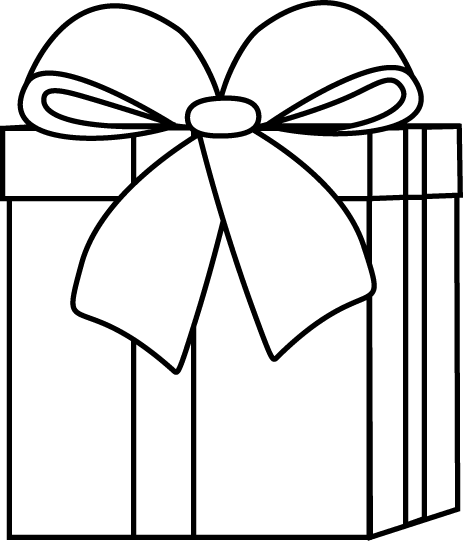 Drawing presents gift. Christmas gifts clipart junction