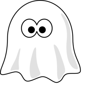 Ghost clip black and white. Clipart