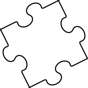 White clipart. Black and jigsaw puzzles