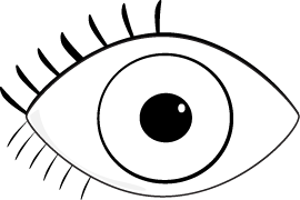 Eye clip black and white. Eyes clipart