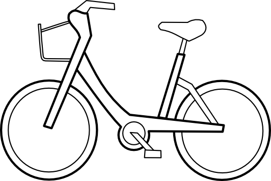 Cycle vector drawing. Bike clipart black and