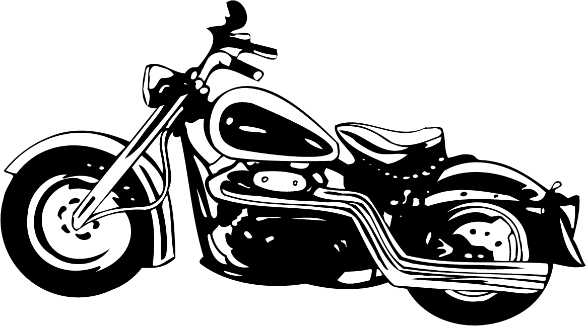 White clipart motorcycle. And black kid vinyl